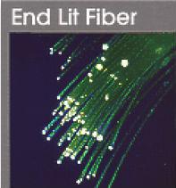 sparkled fiber bright plastic optical fiber end light low attenuation