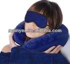 travel kit eye mask neck pillow / airline travel set