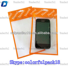 custom printed mobile phone accessories plastic bag for HTC Desire with ziplock and window/zipper bag for mobile accessories