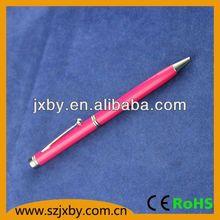 2013 hot selling mini easy take soft foam EVA short sport mini metal ball pen