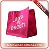 oversized foldable custom logo printed non woven promotion tote bag
