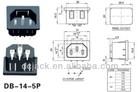 AC Socket DB-14-5P Germany plug socket VDE Approved