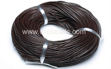 coffee genuine round leather cord 3mm