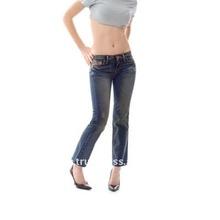 Womens Crop Jeans in Dark Blue