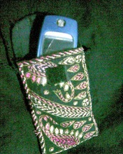 hand stitch cell phone pouch