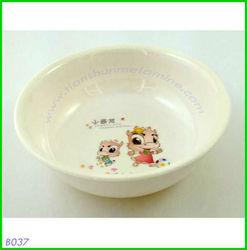 Plastic round painted bowls , children melamien dinner ware