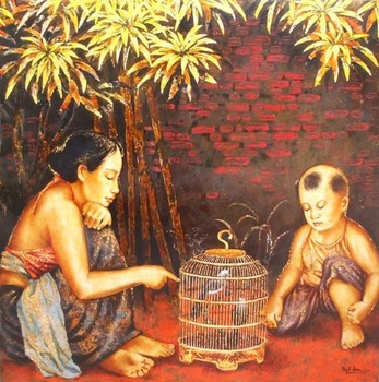 Lacquer on Wood by Artist Nguyen Thanh Hai