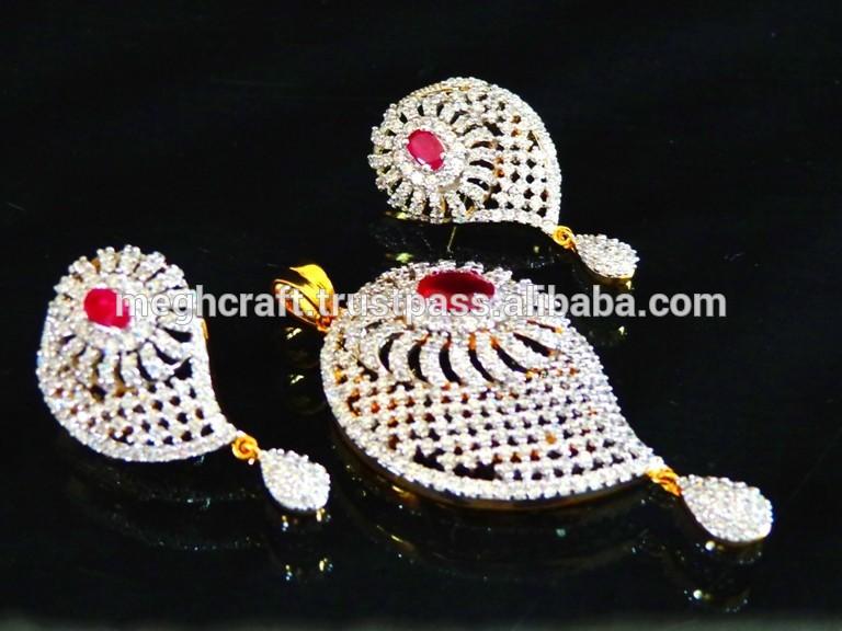 Diamond Pendent Set Pedant Necklace American Jewelry