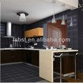 خزائن المطبخ الحديثة السوداء ak448، تصاميم جزيرة المطبخ بار