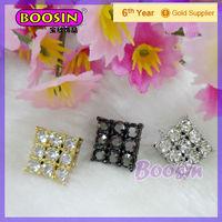 European Stylish Imitation Diamond Gunmetal Statement Earrings #22315