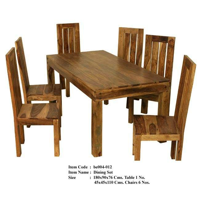 Round Mesquite Carved Dining Table - Mexican Furniture - Rustic