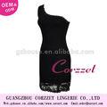 2013 nouveau design des femmes robes de soirée sexy en dentelle noire accepter oem