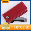 Wallet shape leather gift embossed logo USB memory stick