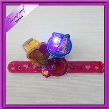 high quality promotional custom LED slap band for kids gifts