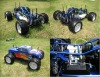 1:5 2.4G RTR 4WD gasoline baja with reverse