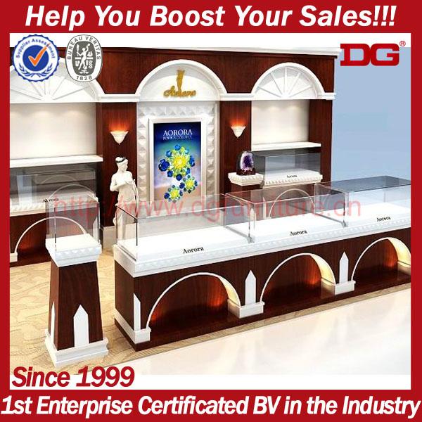 High class Indian jewellery showroom interior design