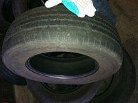 slightly used car tires. Grade D