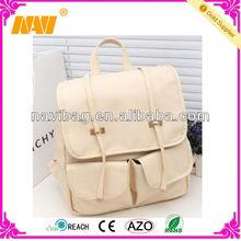 fashion beige white PU backpack(NV-SC431)