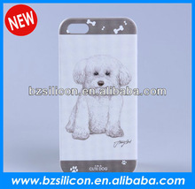Novelty dog design relief painting cover for iphone 5, 3d design