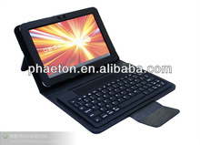 Bluetooth Keyboard with Stand Case for Samsung tab P7500 tablet, samsung galaxy tab 2 10.1 skin