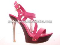 Pink ladies shoe high heel sandals fashion design