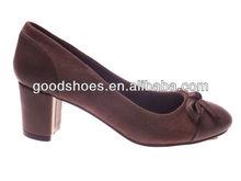 Cheap high quality ladies dress shoes mid heel