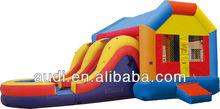 inflatable Moonwalk with water slide