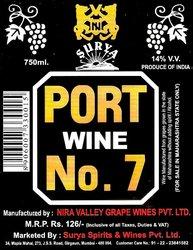 PORT WINE NO 7