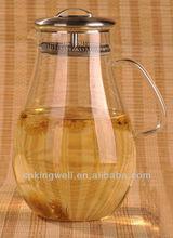 Heat resistent glass big capacity of 1.9L glass water pot