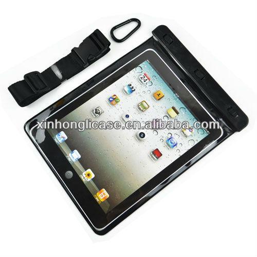 Belt Waterproof bag for iPad 2/3/4, For iPad waterproof case
