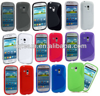 S line TPU Gel Cover for Samsung Galaxy S3 Mini I8190 + Screen Protector