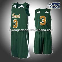 Custom European basketball jersey green color