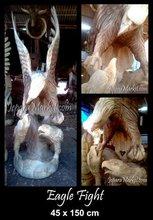 Sculpture Eagle Fight 150