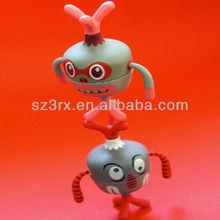 3d mini vinyl toy,3d mini animal vinyl figurine toy,custom vinyl mini 3d toy for kids