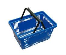 Plastic shopping basket for supermarket