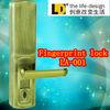 LA-001 waterproof password fingerprint lock touch screen easy to handle