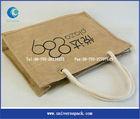 special customized reusable burlap shopping bags