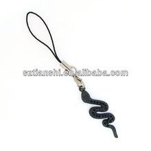 mobile phone rhinestone charms snake