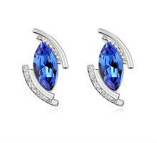 2013 popular jewelry earrings light blue stone angel's tear earrings coral earring design