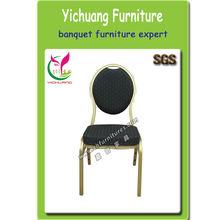 Popolare& buona qualità in alluminio sedia, tessuto nero, spugna ad alta sicurezza, sgs certificato, ristorante imbottiti pranzo chairyc- zl10
