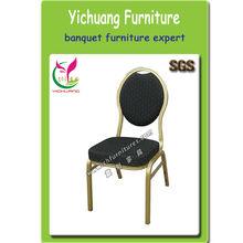 Popolare& buona qualità in alluminio sedia, tessuto nero, spugna ad alta sicurezza, sgs certificato, ristorante elegante chairsyc- zl10