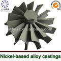 investimento de fundição a vácuo da turbina pelton roda usada para turbocompressor de peças de reposição