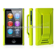 low MOQ case for ipod nano clip lime color hot color