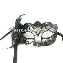 Black Feather Flower Eye Masks