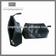 Wholesale black plain high quality cosmetic travel bag cases for promotion