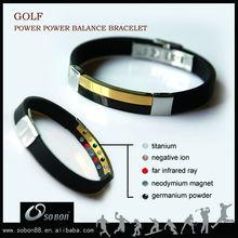 sports team golf metal bracelet set newly development