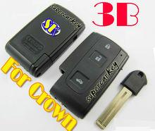 Toyota Crowm 3 Button Smart Card key Case With Emergency Key