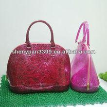 China dongguan manufacturer wholesale fashion jelly candy tote bag, women handbag