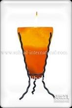 Himalayan Salt Iron Stand Holder Three Curlly Shape