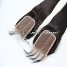 2013 new arrival lace closure with middle parting